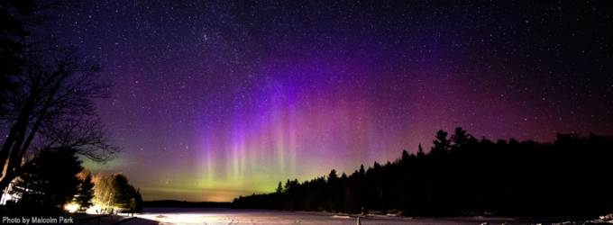 PanSTARRS, Aurora & Andromeda at Mew Lake in 2012, by Malcolm Park, RASC Member