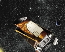 Keppler Spacecraft looking for planets by NASA/Ames/JPL-Caltech