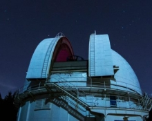 David Dunlap Observatory main dome at night, outside (Bill Longo)