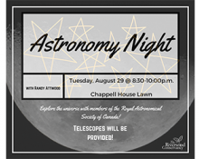 August 29th Astronomy Night