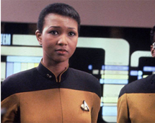 Mae Jemison as Lieutenant Palmer in Star Trek: TNG