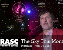 The Sky This Month March 21 - April 30, 2018