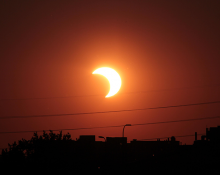 Partial solar eclipse by Tom Ruen