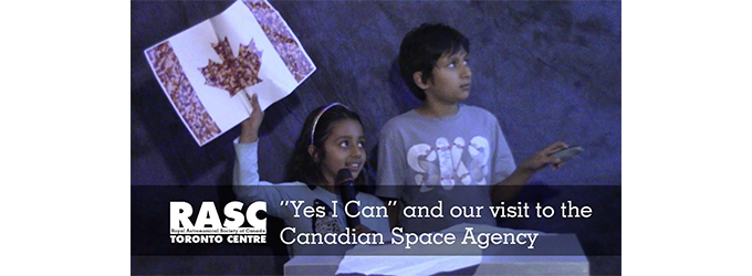 """Drop the Drought"", ""Yes I Can"" and Canadian Space Agency Visit"