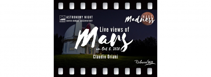 Live Views of the Mars Opposition 2020 - Claudio Oriani