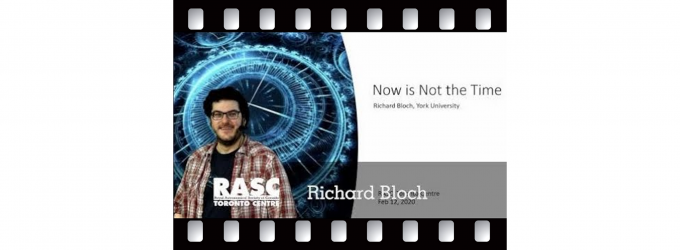 Now is Not the Time with Richard Bloch