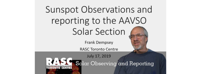 Sunspot Observations and Reporting to the AAVSO Solar Section