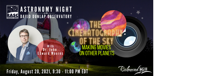 Astronomy Speakers Night - The Cinematography of the Skies