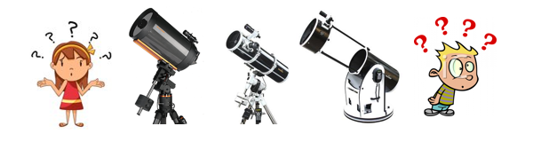 bewildered by astronomical equipment