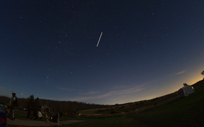ISS pass over the CAO by Bill Longo