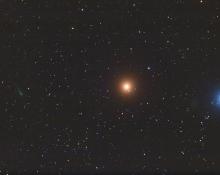 Comet ISON, Mars and Regulus by Chris Schur