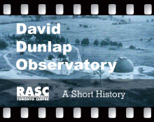 A Short History of the David Dunlap Observatory