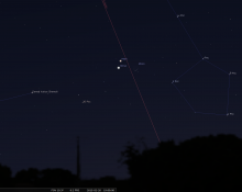 Moon Mars Venus Feb 20 2015 at 7pm