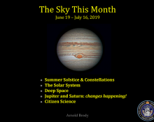 The Sky This Month - June 19 to July 16, 2019