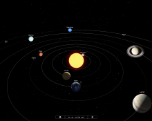 Solar System configuration for 8 pm February 22, 2017