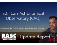 Video: Update Report on the E.C. Carr Astronomical Observatory